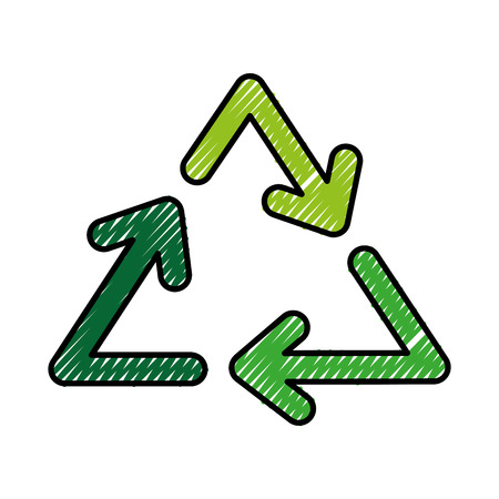 Recycle arrows symbol vector illustration graphic design Illustration