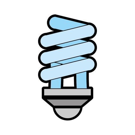 Spiral bulb light vector illustration graphic design Illustration