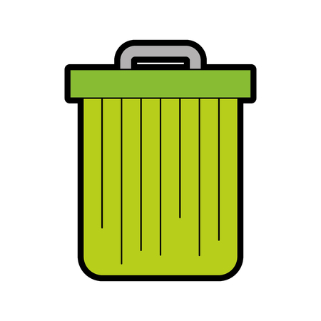Trash can isolated vector illustration graphic design