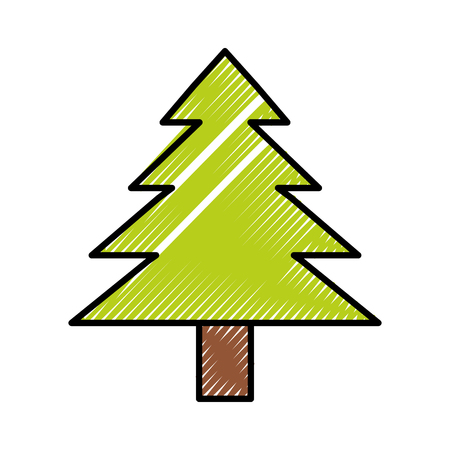 Tree nature ecology vector illustration graphic design