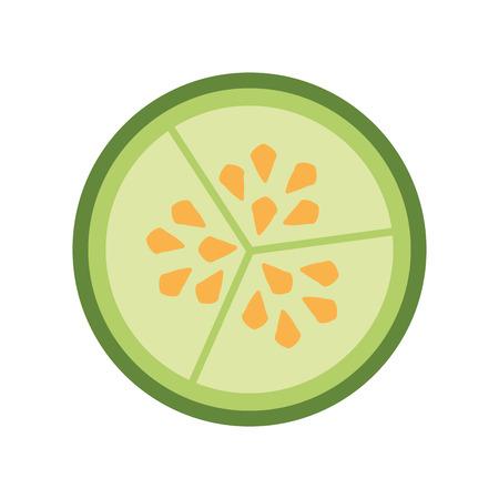 キュウリ野菜種子 vecotr イラスト グラフィック デザイン  イラスト・ベクター素材
