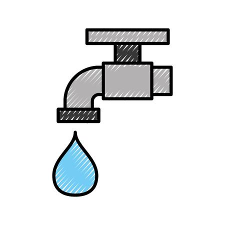 Kraan met druppel water