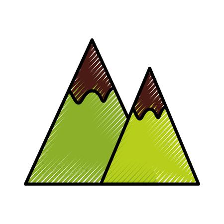 Mountain landscape nature vector illustration graphic