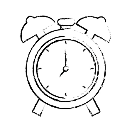 clock icon over white background. vector illustration Illustration