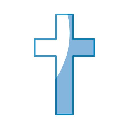 Christliche Kreuz-Symbol auf weißem Hintergrund. Vektor-Illustration Vektorgrafik