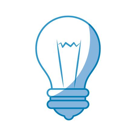 bulb icon over white background. vector illustration