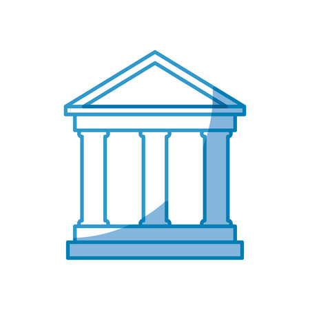 bank building icon over white background. vector illustration Çizim