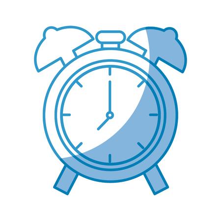 clock icon over white background. vector illustration Illustration