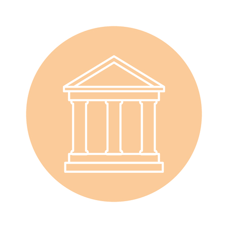 bank building icon over white background. vector illustration Ilustração