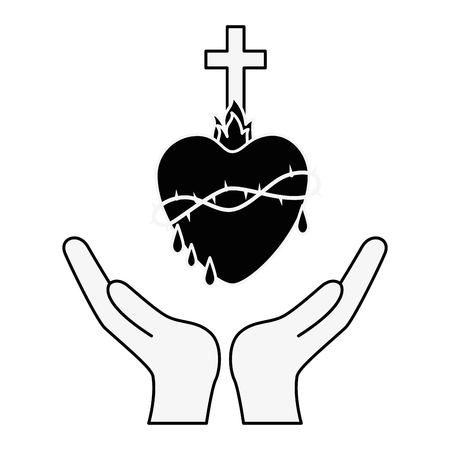 Holy sacred heart icon vector illustration graphic design