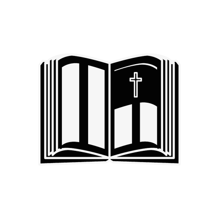 Holy bible open icon vector illustration graphic design Çizim
