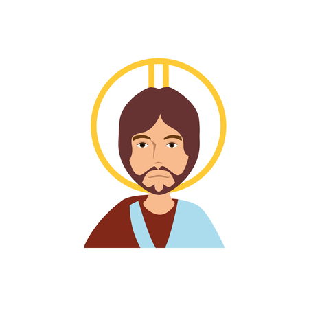 Jesuschrist face cartoon icon vector illustration graphic design Imagens - 77987056