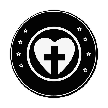 Christian cross symbol icon vector illustration graphic design 版權商用圖片 - 77987064