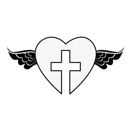 Christelijk kruis symbool pictogram vector illustratie grafisch ontwerp Stockfoto
