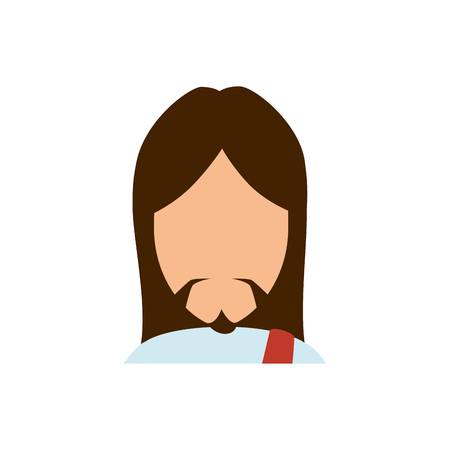 Jesuschrist face cartoon icon vector illustration graphic design Imagens - 77978785