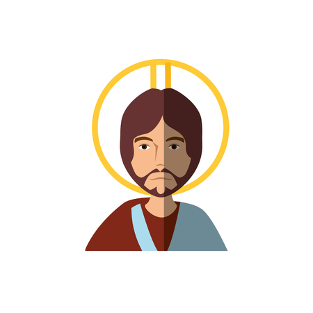 Jesus Christ face cartoon icon vector illustration graphic design