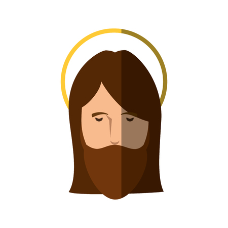 Jesuschrist face cartoon icon vector illustration graphic design