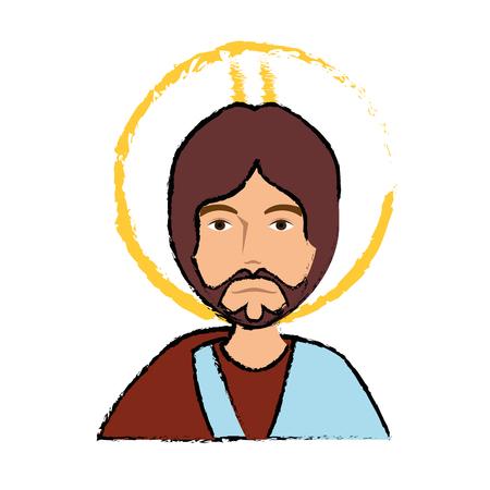 Biblical character cartoon icon vector illustration graphic design.