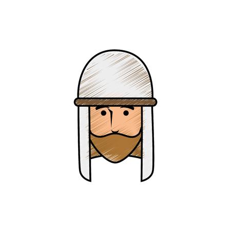 Jesuschrist face cartoon icon vector illustration graphic design