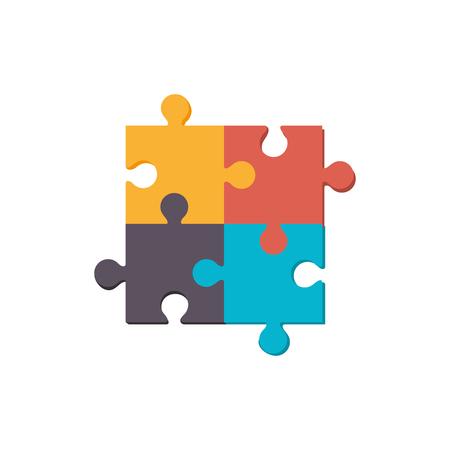퍼즐 조각 기호 아이콘 벡터 일러스트 그래픽 디자인