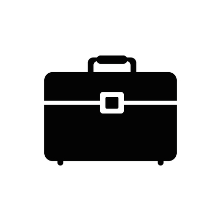 Business briefcase isolated icon vector illustration graphic design Çizim