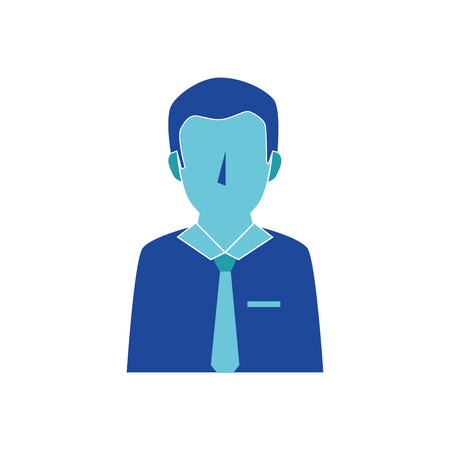 Young man profile icon vector illustration graphic design Illustration