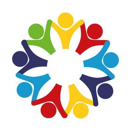 Teamwork abstract symbol icon vector illustration graphic design Illustration