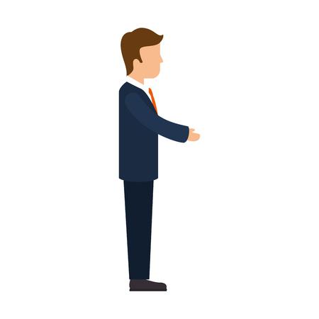 Businessman executive cartoon icon vector illustration graphic design