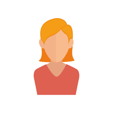 Young woman profile icon vector illustration graphic design Stok Fotoğraf