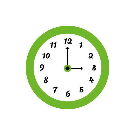 Clock icon over white background. colorful design. vector illustration