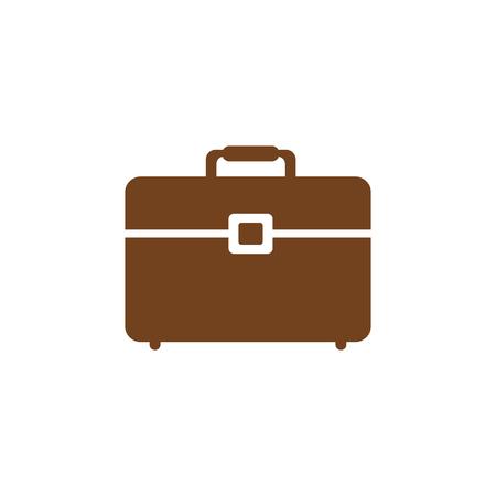 Zakelijke aktetas pictogram op witte achtergrond. vectorillustratie