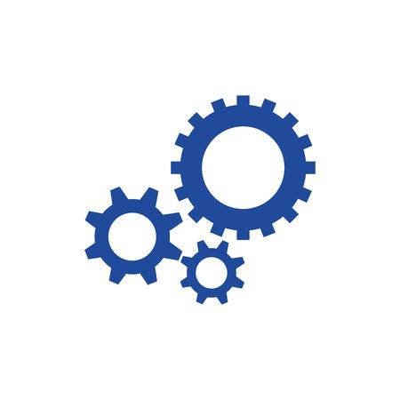 gear wheel icon over white background. vector illustration Illustration