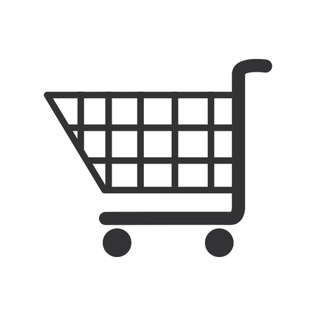 Shopping cart icon over white background. vector illustration Illustration
