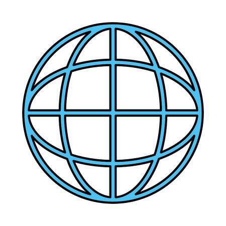 Global sphere symbol icon vector illustration graphic design Vectores