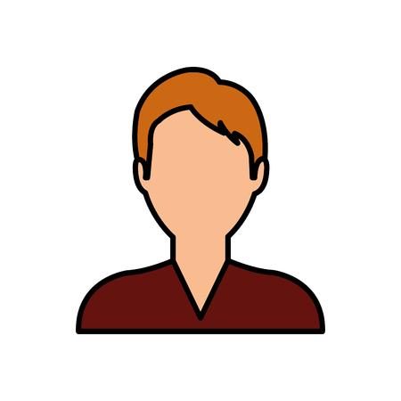 Young man profile icon vector illustration graphic design Stock Photo