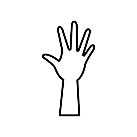 Hand up symbol icon vector illustration graphic design