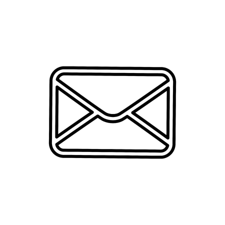 Email or mail symbol icon vector illustration graphic design Illusztráció