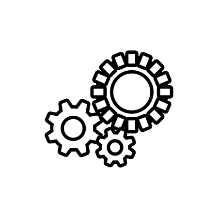 Gear machinery piece icon vector illustration graphic design