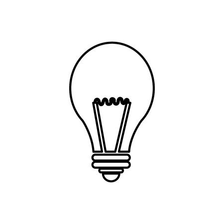 gloeilamp licht pictogram op witte achtergrond. vectorillustratie