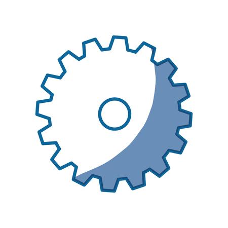 mechanism of progress: gear wheel icon over white background. vector illustration Illustration