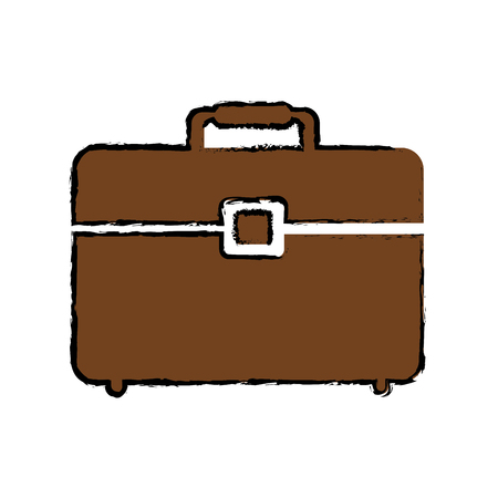 Business briefcase isolated icon vector illustration graphic design Ilustrace