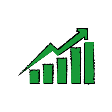 Statistics growing graphic icon vector illustration graphic design Illustration