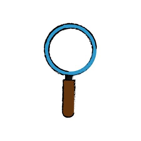 ルーペ虫眼鏡アイコン ベクトル イラスト グラフィック デザイン