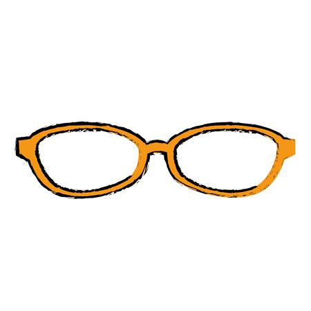Vintage fashion glasses icon vector illustration graphic design
