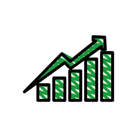 Statistics growing graphic icon vector illustration graphic design 向量圖像