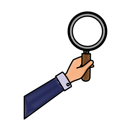 Lupe magnifying glass icon vector illustration graphic design Stock Vector - 77987737