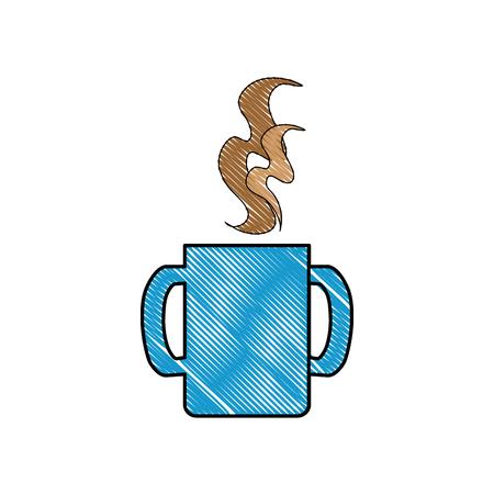 おいしいコーヒー飲み物アイコン ベクトル イラスト グラフィック デザイン
