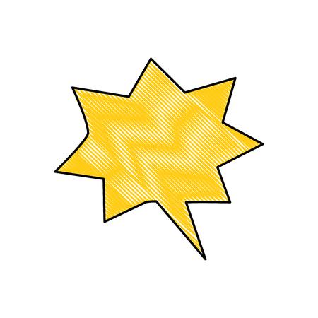 Comic bubble cartoon icon vector illustration graphic design