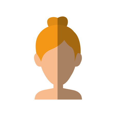 blondie: Young woman profile icon vector illustration graphic design Illustration