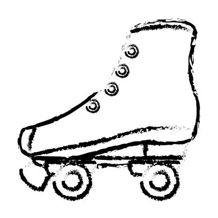 diseño retro del ejemplo del vector del icono del patín aislado